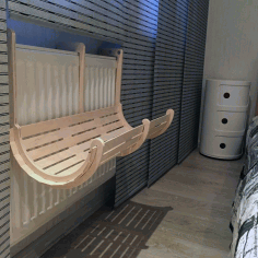 Hanging Cat Bed Free CDR Vectors Art