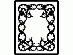 Laser Cut Patterned Photo Frame With Designed Border Free DXF File