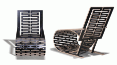 Laser Cut Wooden Design Chair Layout Free DXF File