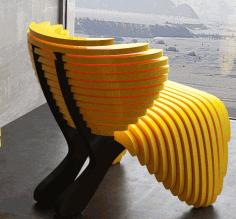 Parametric Chair Design 400x400x800 Free DXF File