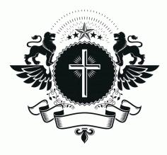 5star Emblem Design Logo Badge Free CDR Vectors Art