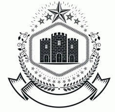 9stars Emblem Logo Badge Free CDR Vectors Art