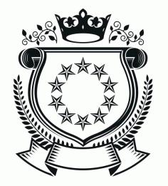 10stars Emblem Design Logo Badge Free CDR Vectors Art