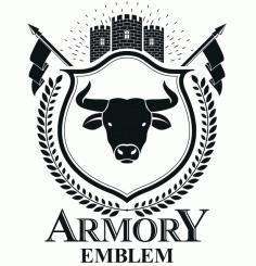 Armory Emblem Design Logo Badge Free CDR Vectors Art