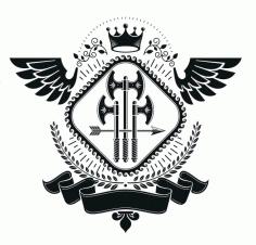Gladiator Axe Emblem Logo Badge Free CDR Vectors Art