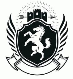 Horse Emblem Design Badge Free CDR Vectors Art