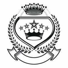 King Emblem Design Logo Badge Free CDR Vectors Art