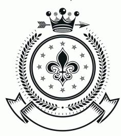 King State Emblem Badge Free CDR Vectors Art