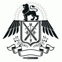 Lion Emblem Logo Badge Free CDR Vectors Art
