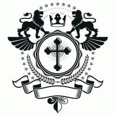 Lions Emblem Design Logo Badge Free CDR Vectors Art