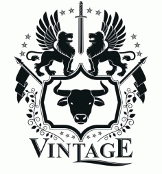 Vintage Emblem Design Logo Badge Free CDR Vectors Art