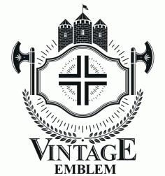 Vintage Emblem Free CDR Vectors Art