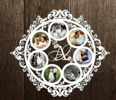 Laser Cut Photo Frame Layout Free CDR Vectors Art