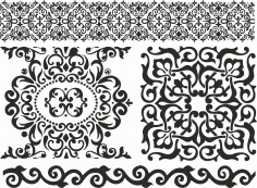 Pattern Screen Panel 1475 Free CDR Vectors Art