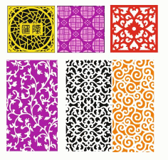 Pattern Screen Panel 1551 Free CDR Vectors Art