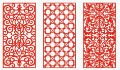 Pattern Screen Panel 1552 Free CDR Vectors Art