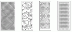 Pattern Screen Panel 1554 Free CDR Vectors Art