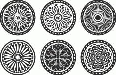 Pattern Screen Panel 1556 Free CDR Vectors Art