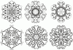 Pattern Screen Panel 1557 Free CDR Vectors Art
