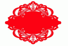 Red Ornament Border Frame Design Free CDR Vectors Art
