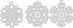 Vintage Snowflakes Free CDR Vectors Art
