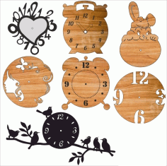 Laser Cut Clocks Layout Free CDR Vectors Art