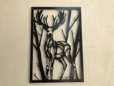 Deer Laser Cutting Free DXF File
