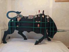 Laser Cut Bull Shelves Layout Free DXF File