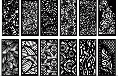 Laser Cut Decorative Panel Screen Free DXF File