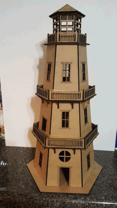 Lighthouse For Laser Cutting Free DXF File