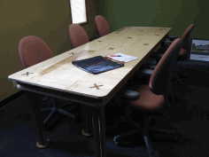 Laser Cut Conference Room Table 10x4ft Free DXF File