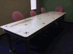 Conference Room Table 10x4ft Free DXF File