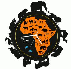 Africa Clock Free CDR Vectors Art