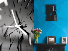 Broken Dial Wall Clock Free CDR Vectors Art