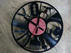 Barber Clock Free CDR Vectors Art