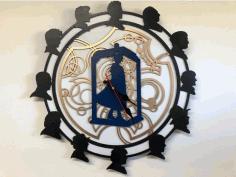 Clock Star Wars Photo Frame Free DXF File