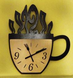 Kitchen Wall Clock Free DXF File