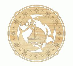 Sea Life Clock Free DXF File