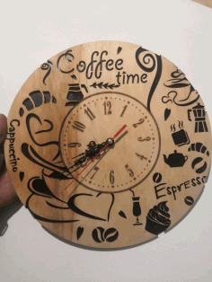 Coffee Time Wall Clock Free CDR Vectors Art
