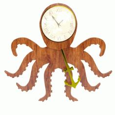 Octopus Clock Free CDR Vectors Art