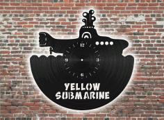 Submarine Clock Free CDR Vectors Art