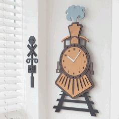 Train Wall Clock Free CDR Vectors Art