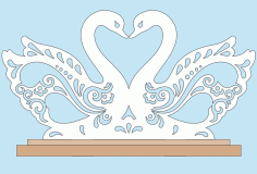 Swan Napkin Holder Laser Cut Cnc Plans Free PDF File