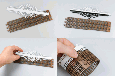 Laser Cut Wedding Napkin Rings Free PDF File