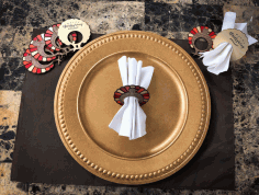 Laser Cut Thanksgiving Napkin Rings Free PDF File