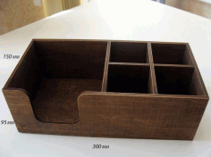 Laser Cut Napkin Holder 300x150x95 Plywood 4mm Free PDF File