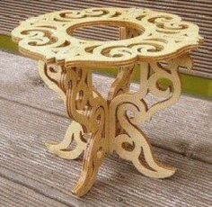 Porta Vaso – Vase Holder Cnc Router Laser Cut Plans Free PDF File