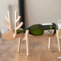 Laser Cut Reindeer Wine Holder 10mm Free PDF File