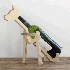 Laser Cut Dog Wine Bottle Holder 10mm Free PDF File