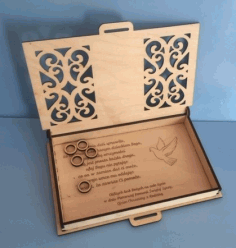 Laser Cut Engraved Wood First Communion Jewelry Box Free PDF File